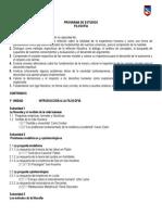 PROGRAMA DE ESTUDIOS FILOSOFÍA