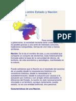 Diferencias entre Estado y Nación Venezolana