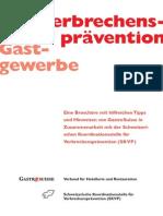 Broschüre «Verbrechensprävention im Gastgewerbe»