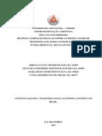 ATPS FORMAÇÃO SOCIAL ECONOMICA E POLITICA DO BRASIL