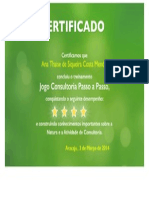 Certificado Natura Curso Formacao Inicial Ana Thaise de Siqueira Costa Mendes