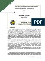 Rencana Dan Strategi Indonesia Dalam Menghadapi AEC 2015