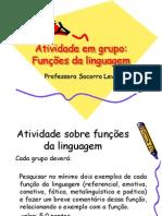 Atividade Em Grupo Funcoes Da Linguagem