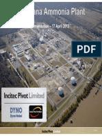 Louisiana Ammonia Plant - Presentation (April 2013) - [FINAL WEB]