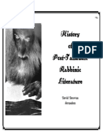 History of Post Talmudic Rabbinic Literature
