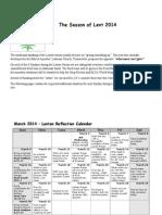 lenten calendar 2014 adapted