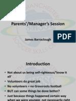 Parents & Coaches Session