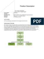 ACF- Climate Change Campaigner PD 2013 08 01