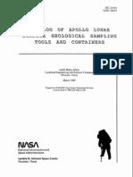 Lunar Sample Tool Catalog