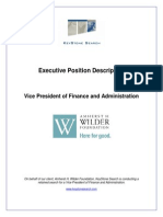 Executive Position Description- Wilder VP Finance Admin