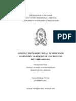 ANÁLISIS Y DISEÑO ESTRUCTURAL DE EDIFICIOS DE MAMPOSTERÍA DE BLOQUES DE CONCRETO CON REFUERZO INTEGRAL