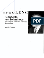 Poulenc, Francis - Organ Concerto in G Major [Organ Part]