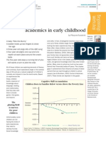 academics in early childhood