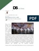Casar, María Amparo, (2009) Reformas en el Aire. Semana 11