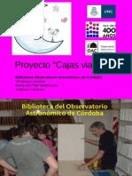 Presentacion2013 UNC Cajas Viajeras