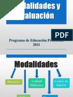 Modalidades y Evaluación