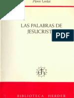Grelot.las Palabras de Jesucristo