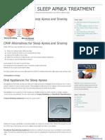 CPAP Alternatives for Sleep Apnea and Snoring