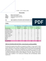 Oakland Police Department Criminal Investigation Division Report 2009