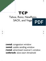 TCP Tahoe Reno Sack Vega