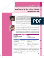 Public Health Nursing and the Disaster Management Cycle
