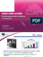 FP7 - Marie Curie Actions - Funding opportunities for Moldova 2010