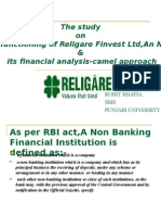 The Functioning of Rfl&Its Financial Analysis-camel Approach