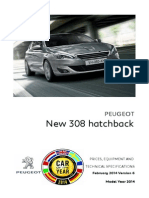 Peugeot 308 Prices and Specifications Brochure