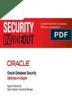 Presentation - Oracle Database Security Defense-In-Depth