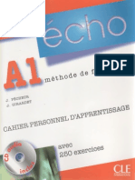 ECHO A1 CAHIER PERSONNEL D´APPRENTISSAGE