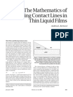 09.21.The mathematics of moving contact lines in thin liquid films