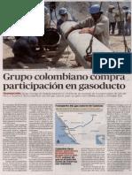 Colombianos compran participación en gasoductos