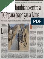 Grupo Colombiano Entra a TGP Para Traer Gas a Lima