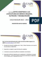 Información para estudiantes de nuevo ingreso