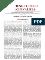 Limojon de Saint Didier - 1 - L'Ancienne Guerre Des Chevaliers
