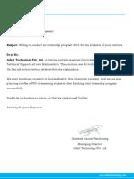 Internship Program 2014