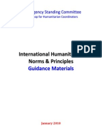 International Humanitarian Norms and Principles