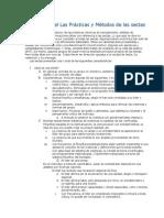 Analisis de Las Practicas y Metodos de Las Sectas