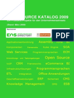 Open Source Katalog 2009 R1