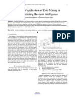 Researchpaper a Study of Application of Data Mining in Demonstrating Business Intelligence