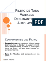 Filtro de Tasa Variable Declinante Con Autolavado