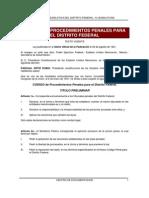 Codigo de Procedimientos Penales Para El Distrito Federal