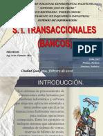 Sistemas Informacion Transaccionales Bancos