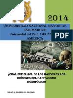 El Rol de Los Bancos en Los Origenes Del Capitalismo Monopolico - Diego Murriagui