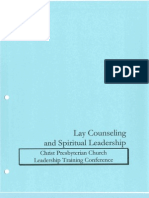 Primer on Lay Counseling - part of the Introduction to Spiritual Leadership Conference