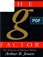 The g Factor - The Science of Mental Ability (1998) by Arthur Robert Jensen
