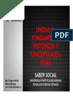 Unidad 2 Fundamentos históricos y conceptuales - Roma