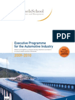 Solvay Executive Programme for the Automotive Industry 2009 2010