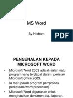 Pengenalan kepada Microsoft Word