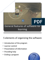 General Features of Software for Learning